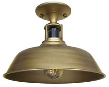 Vintage Retro Industrial Flush Mount Farmhouse Brass Ceiling Light Shade M001
