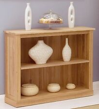 Mobel bookcase low small solid oak living room office furniture