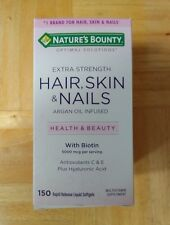 New Nature's bounty 5000mcg hair,skin &nails dietary supplement coated caps150ct