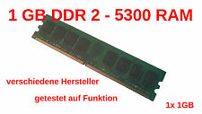 PC Arbeitsspeicher 1GB DDR2 RAM PC5300 Memory SDRAM 240-pol. DIMM Non-ECC 1024mb