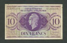 FRENCH EQUATORIAL AFRICA  10 francs  WWII  P16d  About VF  Banknotes
