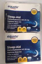 2/Pack - Equate Nighttime Sleep Aid 25 mg, 48 Caplets