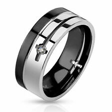 Cubic Zirconia Stainless Steel Rings for Men