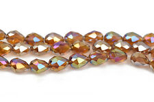8mm Teardrop Crystal beads fct TOPAZ AB Opq crystal 72 beads bgl1465