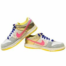 Nike SB Dunk Vintage Glam Gold Pink Purple Yellow White Womens 8 Shoe Sneaker