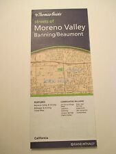 RAND MCNALLY THOMAS GUIDE MONRENO VALLEY BANNING BEAUMONT CA Street Road Map