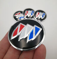 4x 56mm Colour Wheel Center Hub Cap Emblem Badge Alloy Decal Sticker For Buick