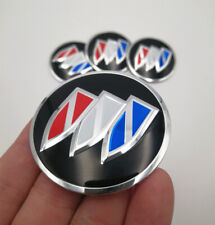 4x 56mm Colour Wheel Center Hub Cap Emblem Badge Alloy Decal Sticker For Buick