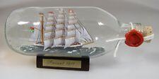 Passat runde Flasche 0,3 Liter Buddelschiff Flaschenschiff ca. 17x6 cm Haartech.