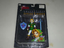 NEW ON CARD NINTENDO ZELDA OCARINA OF TIME COLLECTIBLE ACTION FIGURE NOC LINK >>