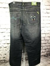 Vintage Lrg Lifted Research Group Jeans Sz 38 Urban Embroidered Dragon Totem