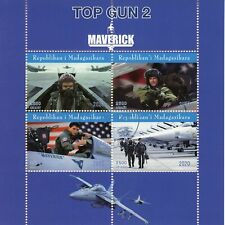 Madagascar Aviation Stamps 2020 CTO Top Gun 2 Maverick Tom Cruise Movies 4v M/S