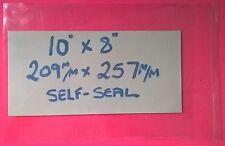 """50 - 10"""" x 8"""" - 209 x 257 - CELLOPHANE BAGS PRINTS self-seal P&P INC UK"""