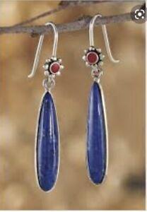 Blue Striped Agate Blue Sky Earrings Sterling Silver Blue Agate Earrings Agate Beads Summer Earrings Agate Earrings Rice Beads