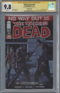 """Walking Dead #80 photo cover_CGC 9.8 SS_Signed Andrew Lincoln """"Rick"""" RARE"""
