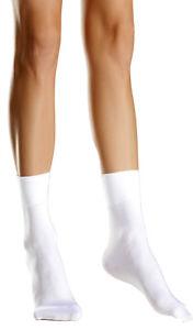 Nylon Cuff Ankle High Socks Anklets Hosiery Stretch Black White BW699