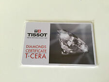 New - TISSOT - Diamonds Certificate T-Cera - Watches Relojes - For Collectors