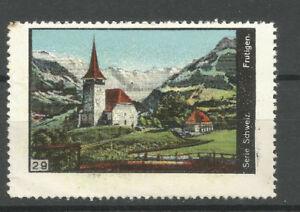 Switzerland poster stamp/label (#29 Frutigen)