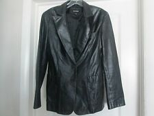Express Black leather  Jacket EUC Perfect for Fall Season Sz 11/12-b2