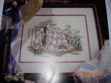 Cross Stitch Paula Vaughan Leaflet Spring Remembered Part 1 and cloth