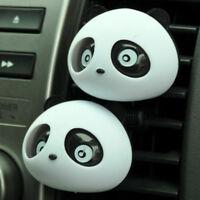 2 x Kawaii Panda Cute Car Perfume Air Freshener Auto Accessory Black For Car