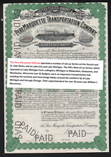 $1M Bd Pere Marquette Transporation Co. 1897 Great Lakes RR Car Ferries.#158