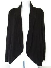 212 Collection Womens Black Draped Open Front Knit Cardigan Sweater size M