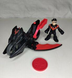 IMAGINEXT BATMAN DC Super Friends NIGHT WING ROBIN & WING MOTORCYCLE figure