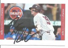 Minnesota Twins BRENT ROOKER autographed Homemade Draft Card