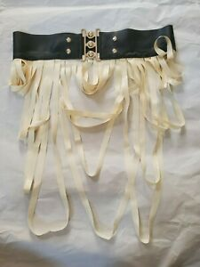 Fetish Latex Black and White Belt with Frills Small / Medium