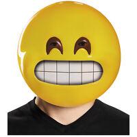 Adult Grinning Face Emoticon Emoji Funny Halloween Costume Plastic Face Mask