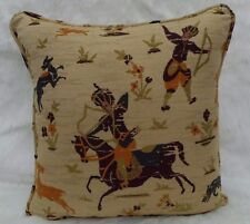 Zoffany Fabric Cushion Cover 'Persian Hunters' Aubergine - Stunning Woven Fabric