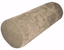 ma05g Khaki Sofa Chenille Velvet Bolster CASE Tube Neck Roll Cushion COVER Size