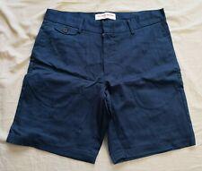 Orlebar Brown Men's Navy Marshall Tailored Longest-Length Shorts Size 32 - New