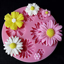 3D Flower Fondant Cake Mold Silicone Mould Cookie Sugarcraft Bake Tool Decor pop
