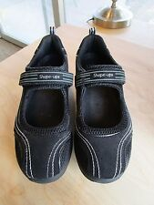 Skechers Shape Ups Mary Leather Black Mary Jane Women's Shoe Size 10 EU 40
