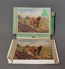 Vintage Victory jigsaw puzzle, farm scene, c1930s