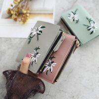 Wallet Women Coin Bag PU Leather Simple Bifold Small Handbag Purse