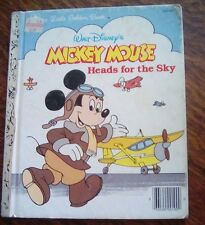 Vintage Children's Little Golden Book~Mickey Mouse Heads for the Sky