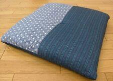 Bleu Coton Polyester Neuf Japonais Coussin Zabuton 55 59cm Japonais