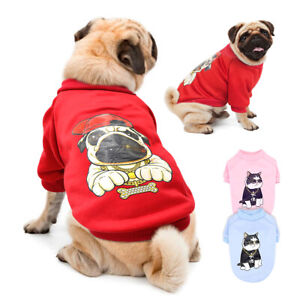 Warm Winter Pet Clothes for Dogs Comfy Padded Pug Coat Sweatshirt Cat Clothes