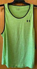 Mens Medium Under Armour Tank Top Nwt $25 Gym Workout Sleeveless Green