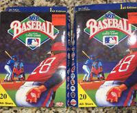 Lot of 2unused MVP Baseball All-Star Card Game 1st Edition 20 MLB All Stars 1990