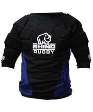 RHINO RUGBY Forcefield Protective Top, Black/Blue.
