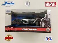Jada Metals Diecast Marvel 2019 Lykan Hypersport  Black Panther Avengers 1:32