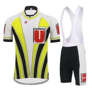 RETRO SYSTEME U Cycling Jersey And Bib Shorts Sets