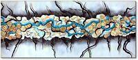 Moderne Kunst Abstrakte  Malerei Wandbild Unikat Handarbeit Nr. 486