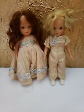 Ring Bearer and Flower Girl Dolls Nancy Ann Storybook #84 & 85-ecru/blue
