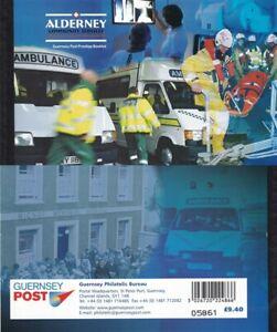 ALDERNEY 17 OCT 2002 COMMUNITY SERVICES PART 2 MEDICAL PRESTIGE BOOKLET MINT
