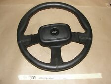 OEM 1990 Chevy Z24 FAUX LEATHER STEERING WHEEL & HORN PAD **TESTED** BLACK